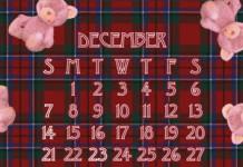 12月の待ち受けカレンダーをUPしました
