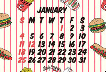 1月の待ち受けカレンダー 配信開始!