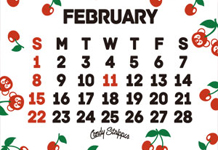 2月の携帯待ち受けカレンダー配信開始!