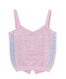 LINED LAME KNIT BUSTIER