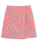 SUNNY DROLL CANDY CHECK SKIRT