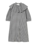 FRILL COLOR GINGHAM CHECK ONE-PIECE