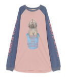 BE WITH YOU RAGLAN ONE-PIECE