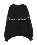 SCALLOP TULLE KNIT CARDIGAN