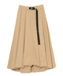 VOLUME TACK FLARE SKIRT