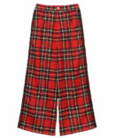 LINED TARTAN CHECK PANTS