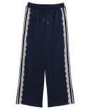 SIDE LACE DECORATED JERSEY PANTS