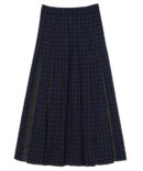 HIDE AND SEEK CHECK PLEATS SKIRT