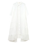 SIDE TULLE SWICHED SHIRT OP