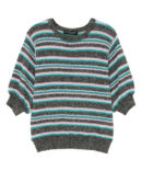 DAZZLE BORDER LAME KNIT