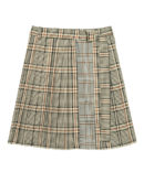 CHECK×CHECK PLEATS SKIRT