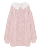 LACE COLLAR CABLE KNIT OP