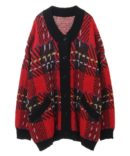 CANDY CHECK KNIT CARDIGAN